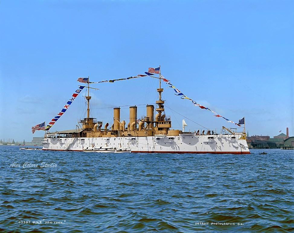 USS NEW YORK (ACR-2) armored cruiser 1893-1901