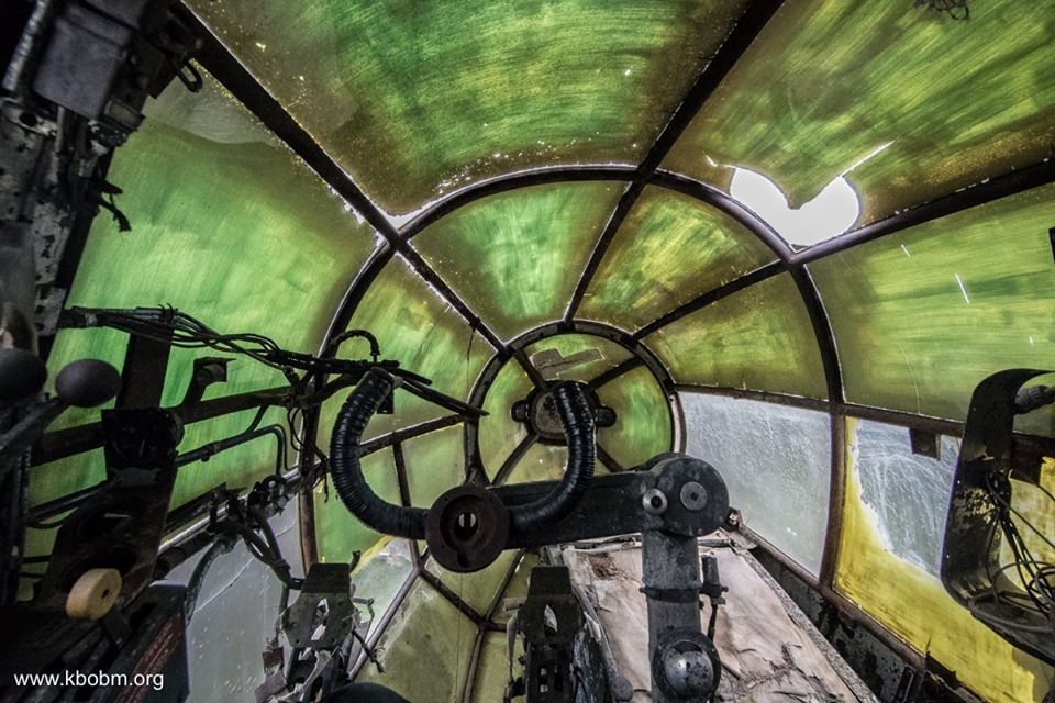 The cockpit of the Kent Battle of Britain Museum's recently acquired Heinkel He 111H-16, taken from the pilots seat