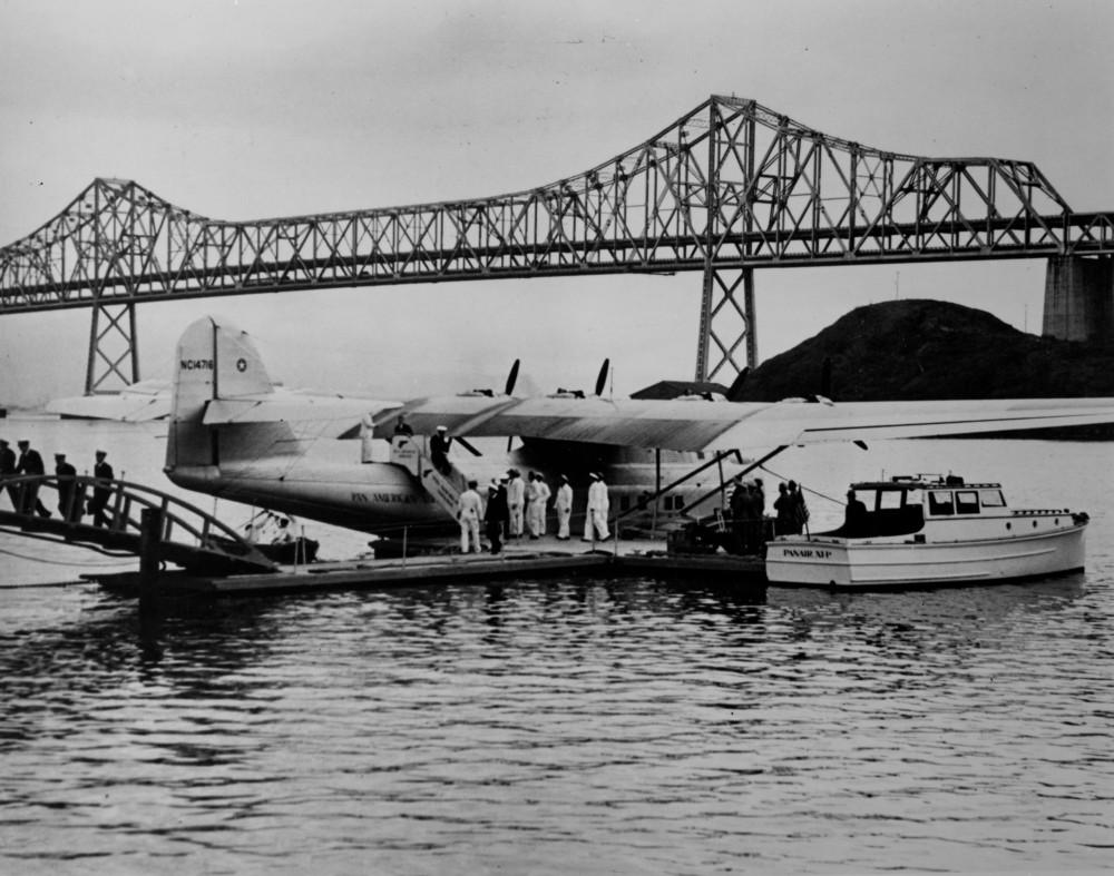 Pan American Airways, Martin M-130 China Clipper at Treasure Island, San Francisco