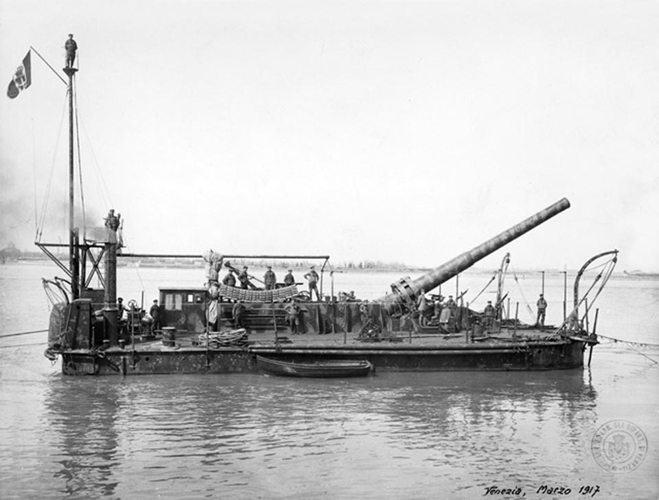 Pontone armato semovente Valente (1915), 1917, 1x305-мм/46