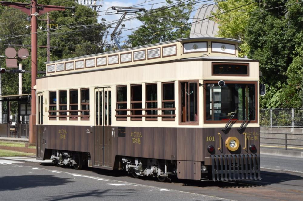 Tourist  tram No. 101 Kagoden of Kagoshima tramway