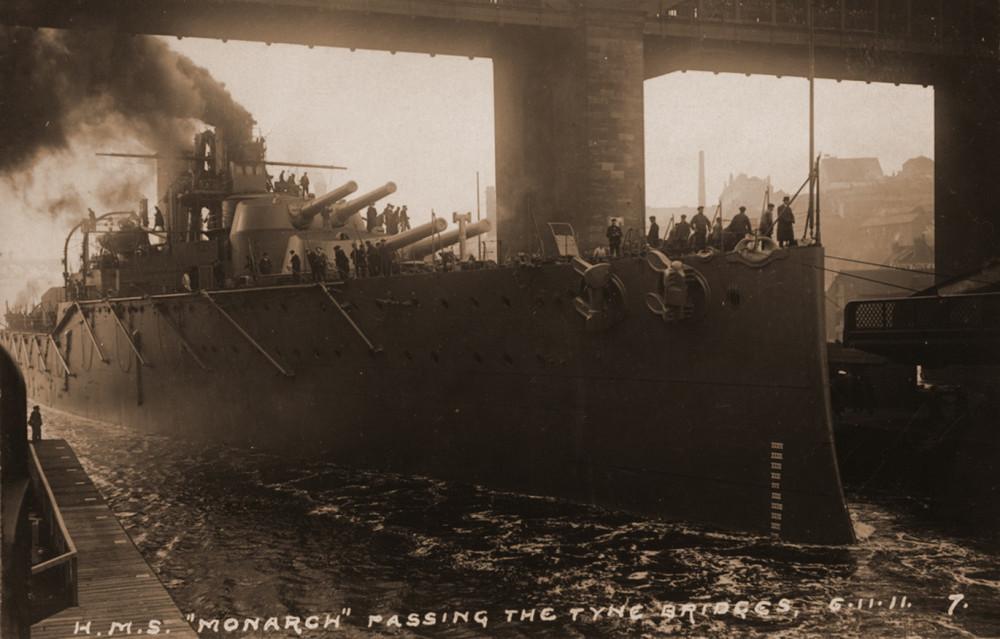17-3406027-monarch-passing-under-the-tyne-bridges-6.11.1911-g