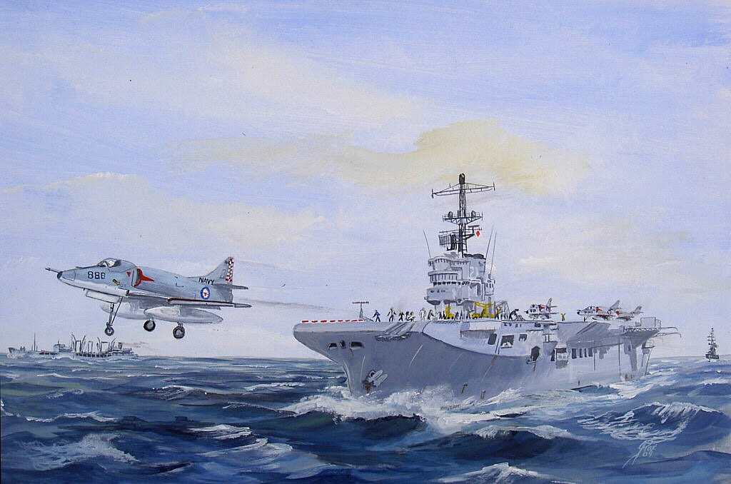 HMAS SYDNEY and Sky Hawk