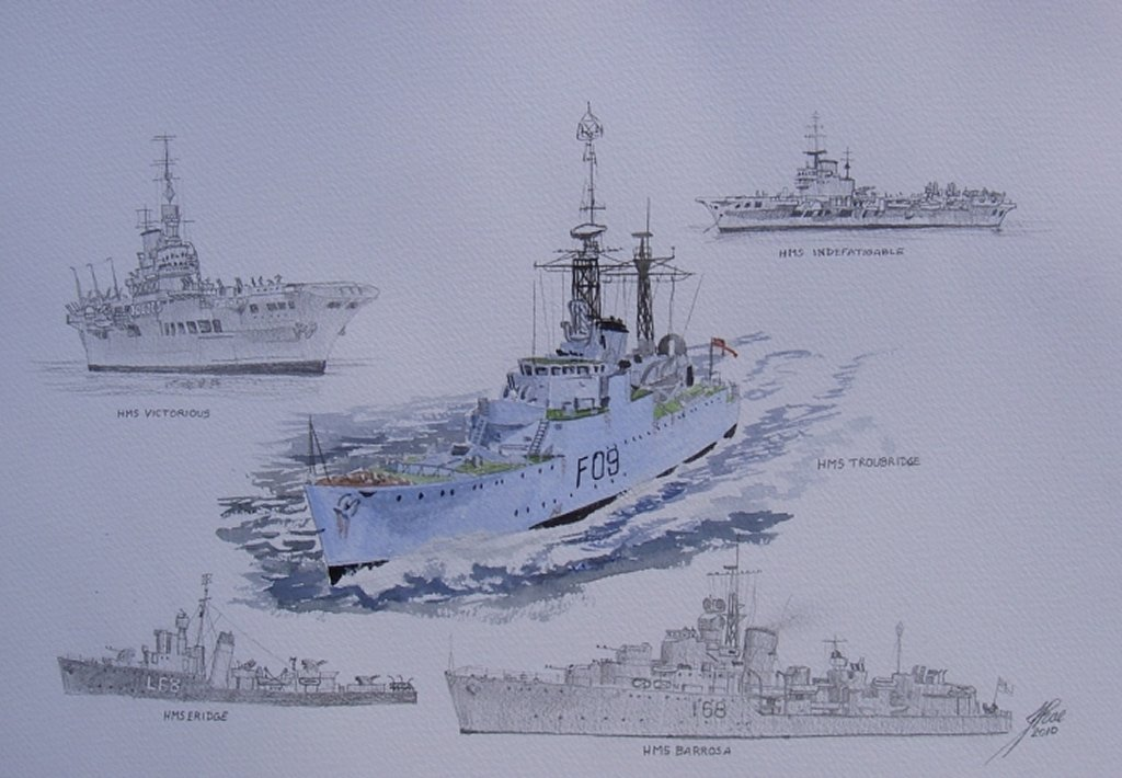 Chalky's Ships. Done for a lady on an other forum, her late father's ships
