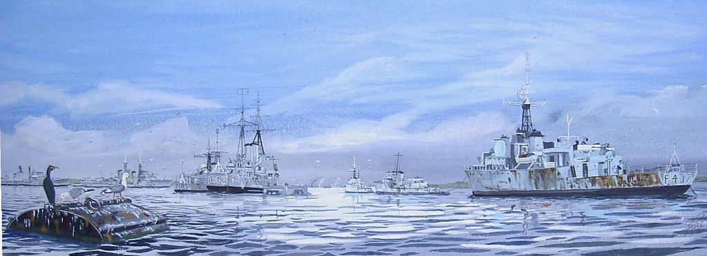 Reserve Fleet. Portsmouth harbour, Got my coxn's ticket practicing among these old beauties. Inspired by the 'To Sail No More' series of books