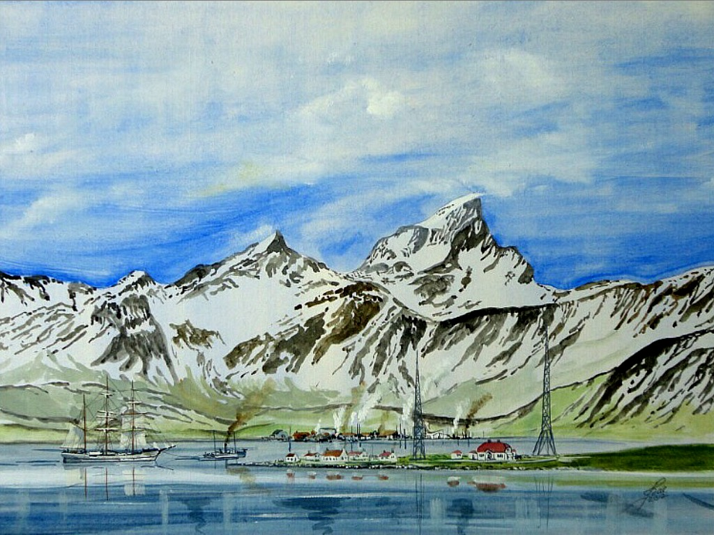 Grytviken was the largest whaling station on South Georgia, part of the British Overseas Territory of South Georgia and the South Sandwich Islands in the South Atlantic