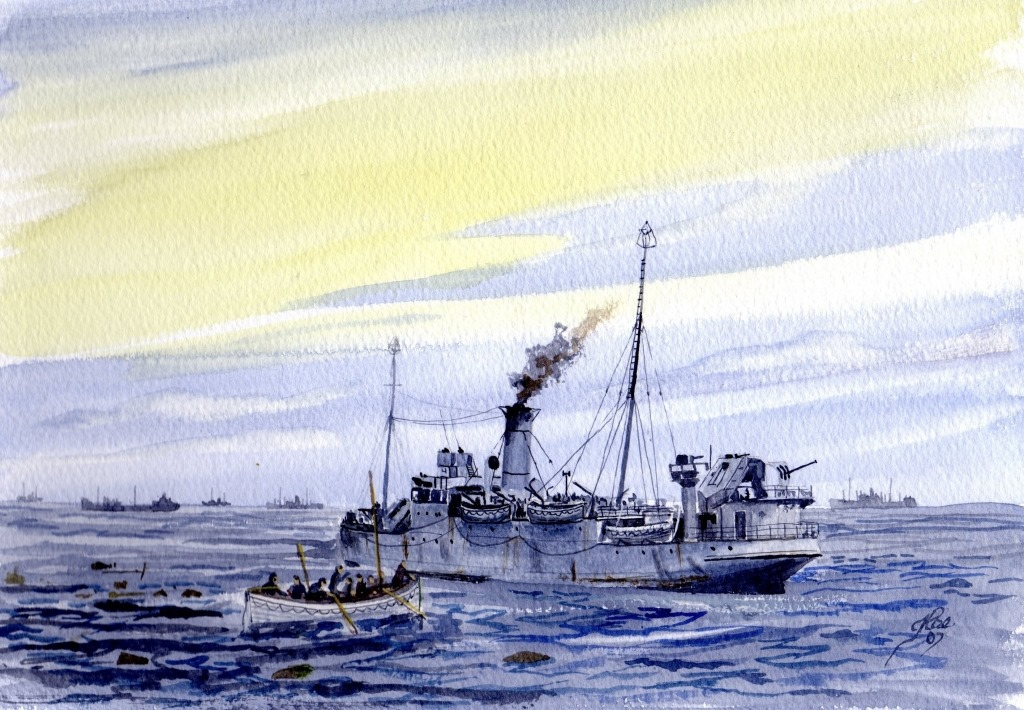 The Rescue Ship Fastnet, picking up survivers