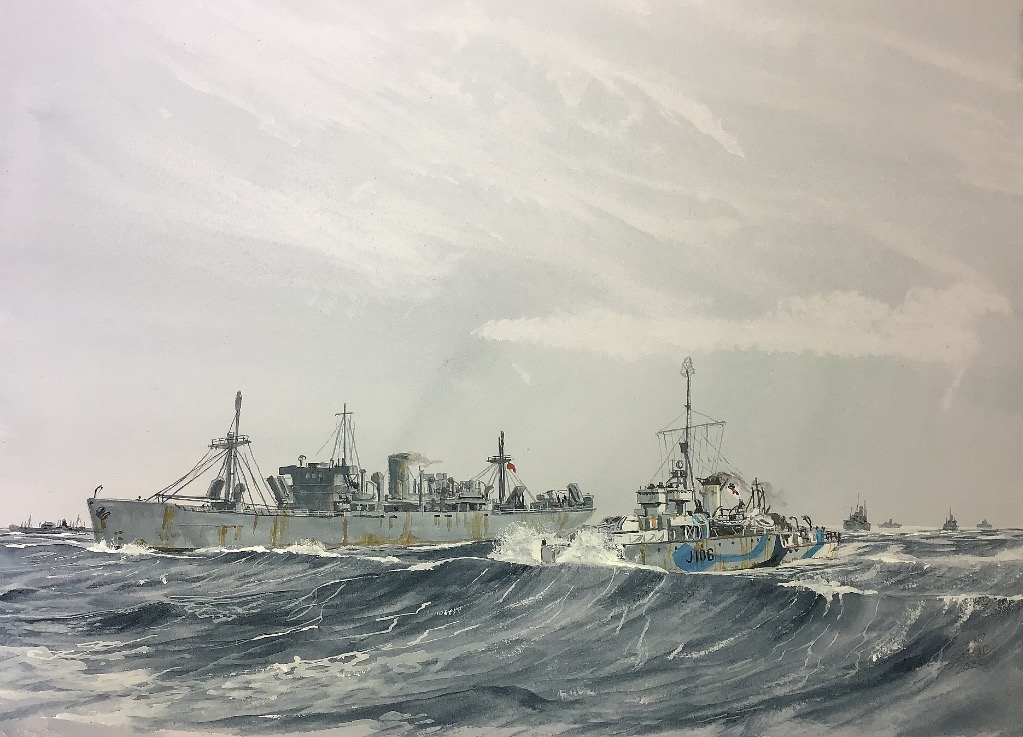 HMS ACUTE. Painting finished, based on 'Fort Grahame' and HMS Acute J106