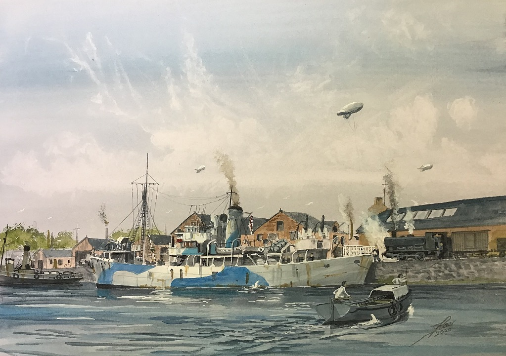 Coldstreamer. HMTrawler Coldstreamer, 'military' class Trawler of WW2