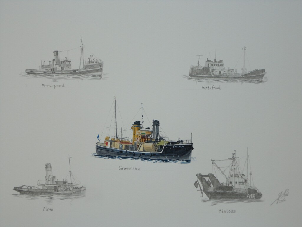 one of the Scottish Fishery Protection ships was one (might have been called Lorna) heres here's one in the middle.