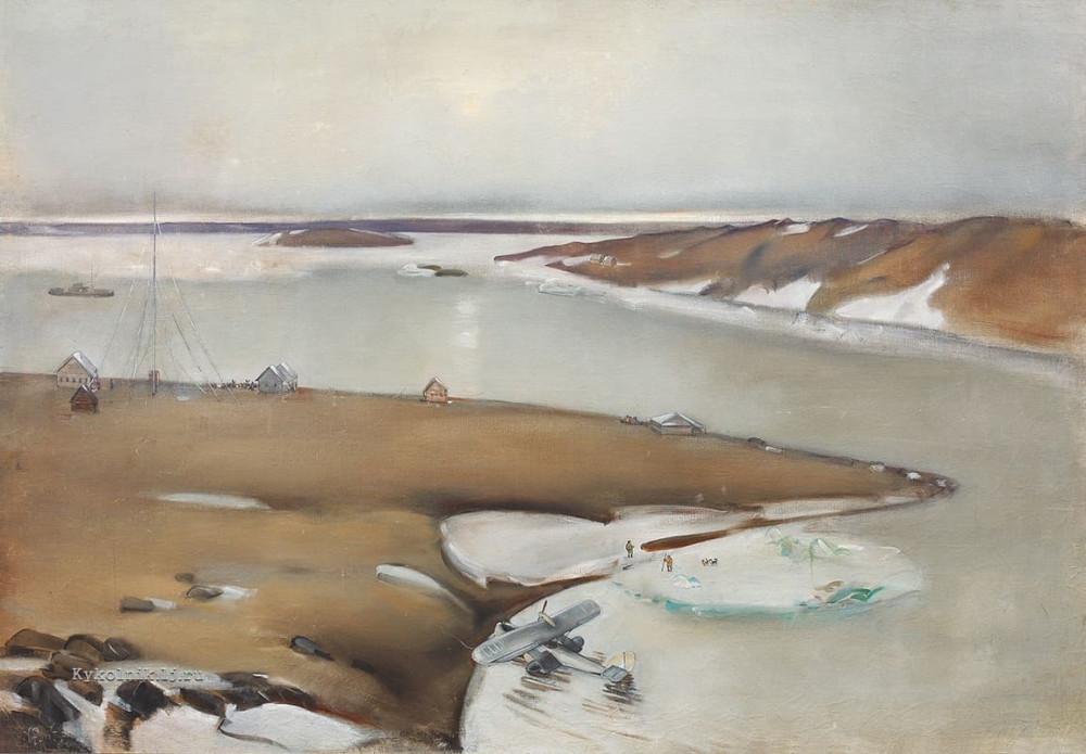 Рыбников Алексей Александрович (1887–1949) «Летняя ночь. Диксон» 1937