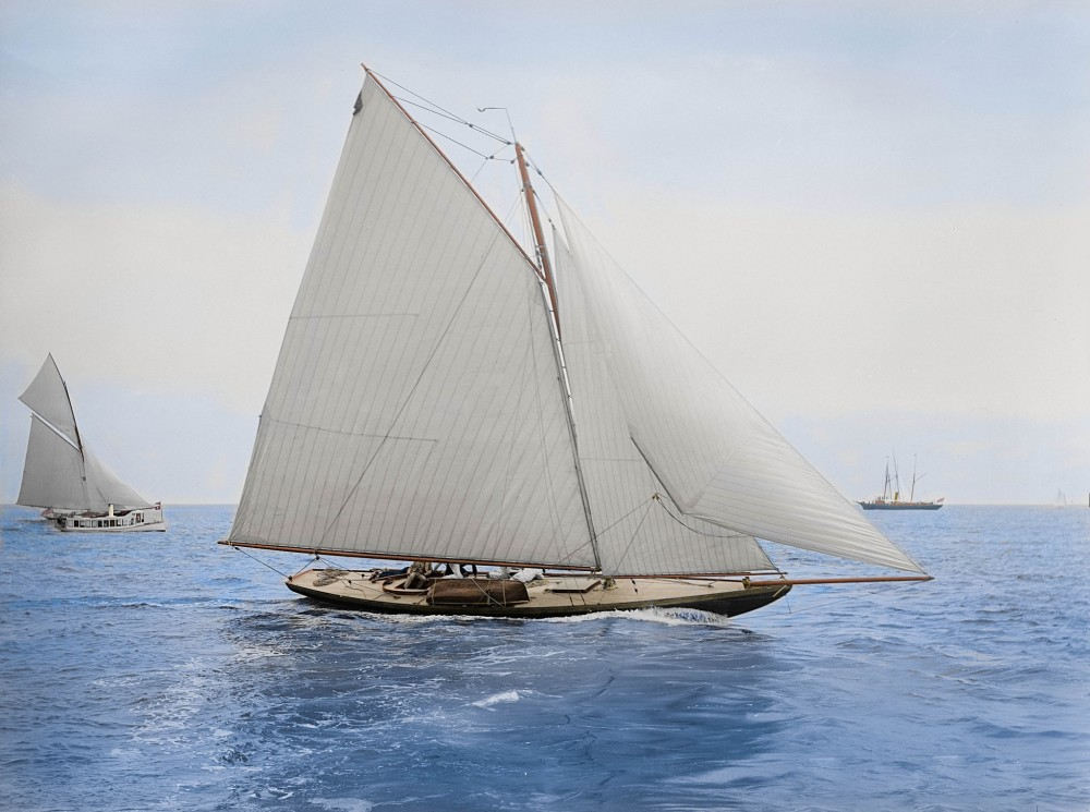 The sloop Drusilla - designed by the legendary Nat Herreshoff - photographed in August 1892