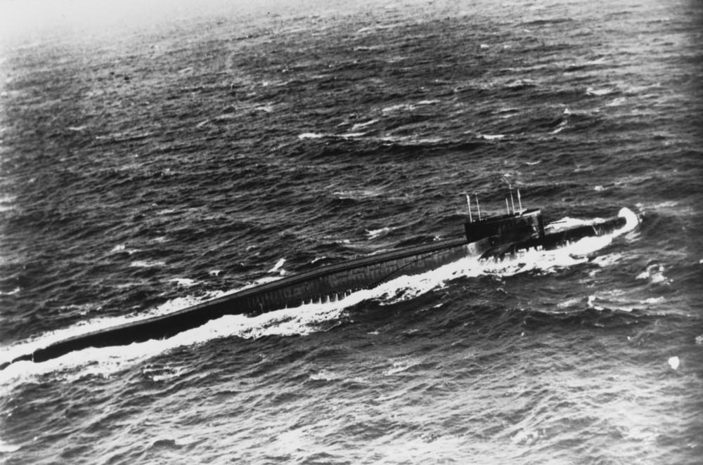 Soviet DELTA II class SSBN. July 1981