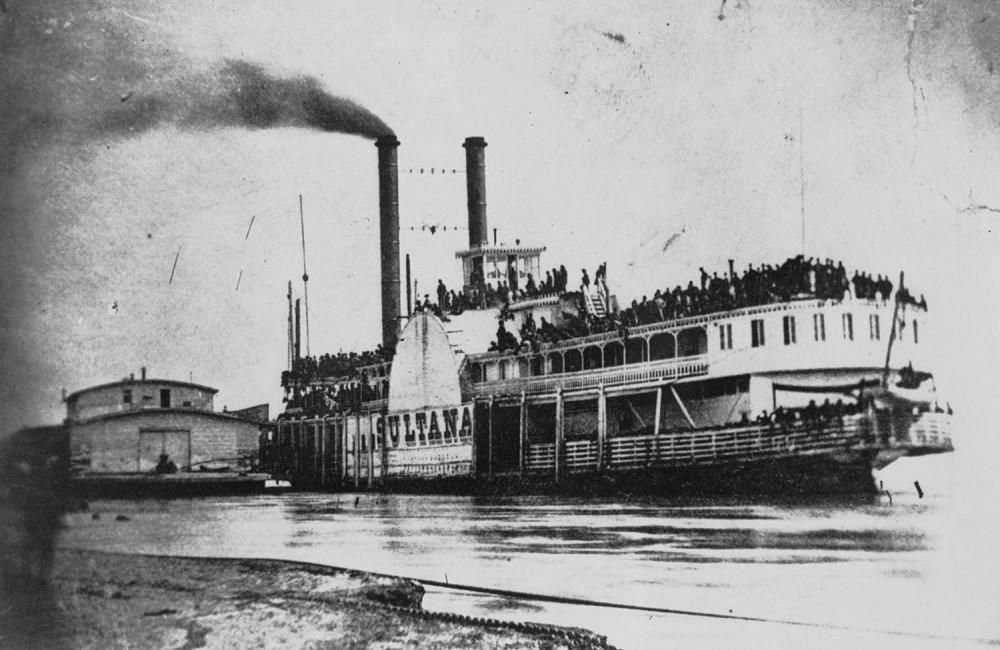 Sultana. Sidewheel, Packet, BUILT 1863 at Cincinnati, Ohio at the John Litherbury yard