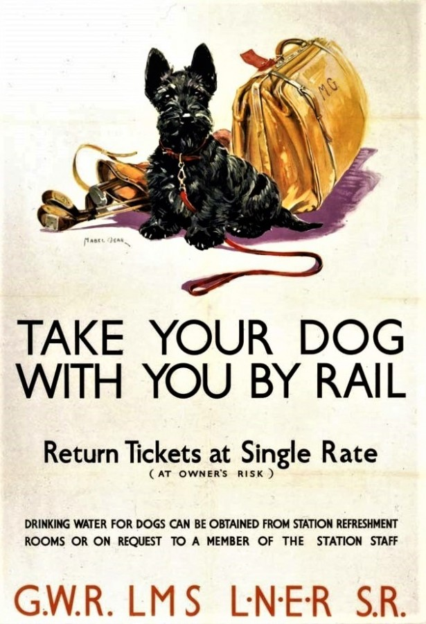 railway poster, from 1935. by Mabel Gear.