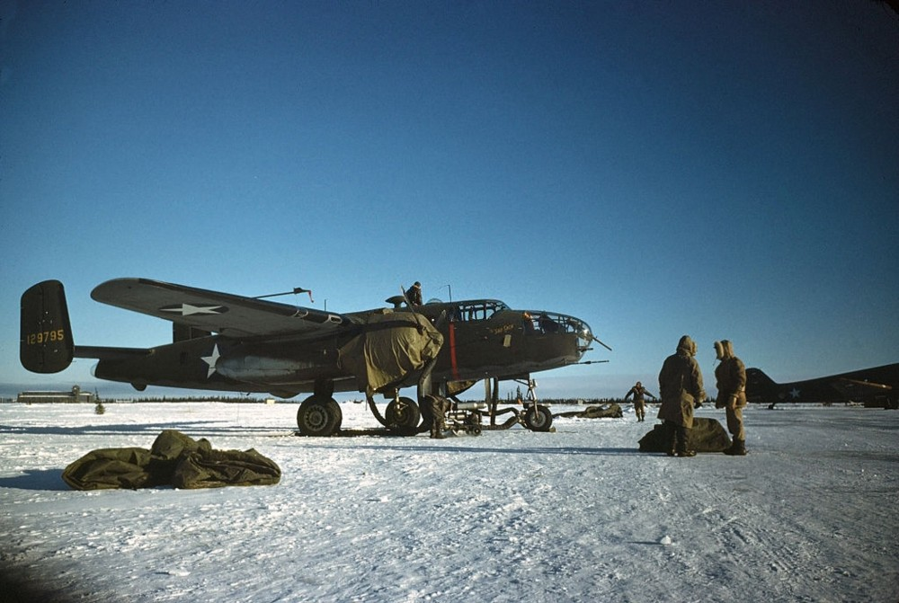 The U.S. Air Base in Goose Bay, Labrador, Newfoundland. December 1942