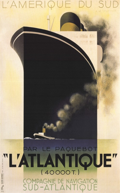 Poster of the L'Atlantique  by Cassandre  1931