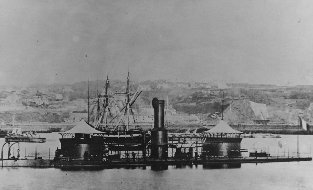 Onondaga at Brest, France c late 1860s-1870s
