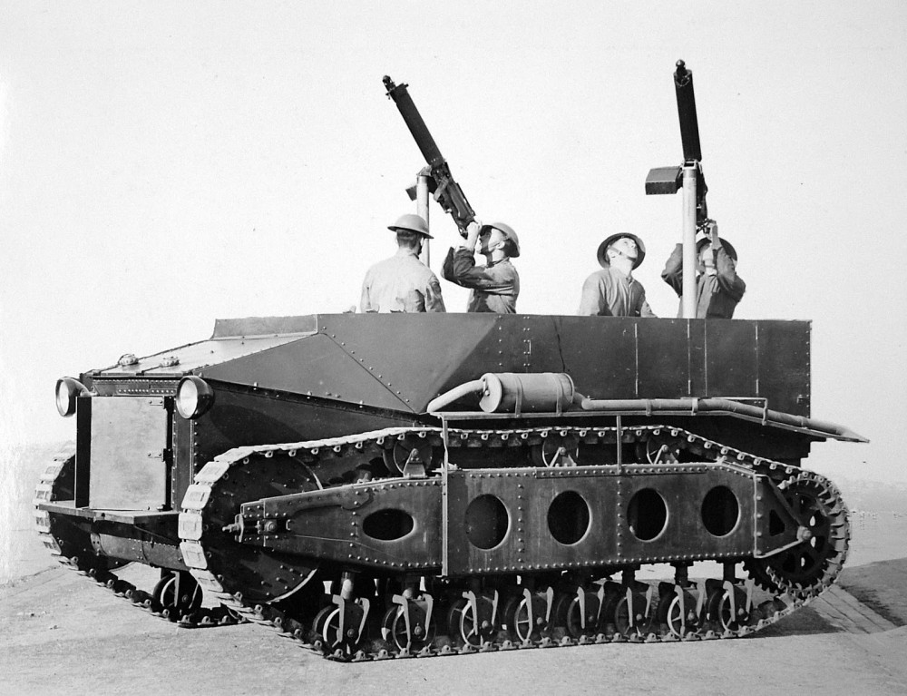 Armstrong Siddeley Light Dragon converted to machine gun carrier, 1925
