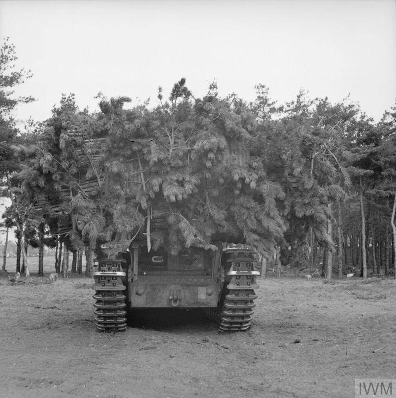 Churchill tank loaded with Fascine 14-04-1943