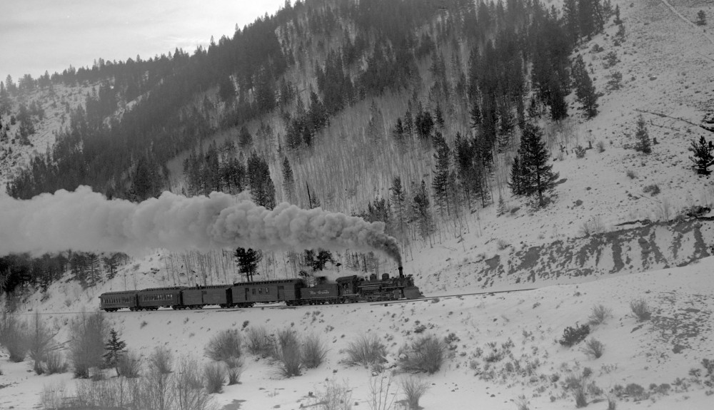 D&RGW train #315 (Narrow Gauge), engine number 479, engine type 2-8-2. Photographed above Mears Junction, Colo., November 17, 1940