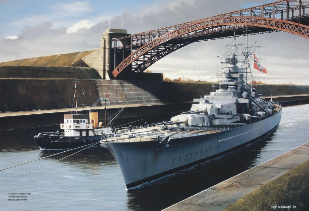 Ivan Berryman - The German battleship Tirpitz, sister ship to the famous Bismarck