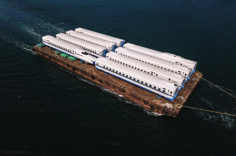 N700S newly completed forward to Tokyo via sea , from manufacturer Hitachi in Yamaguchi prefecture