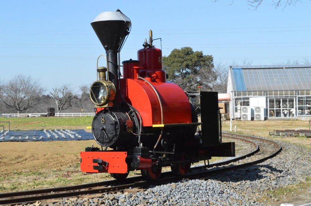 new steam locomotive has been completed at Narita Dream Dairy Farm's Rasujijin Railway. It is the 8th machine