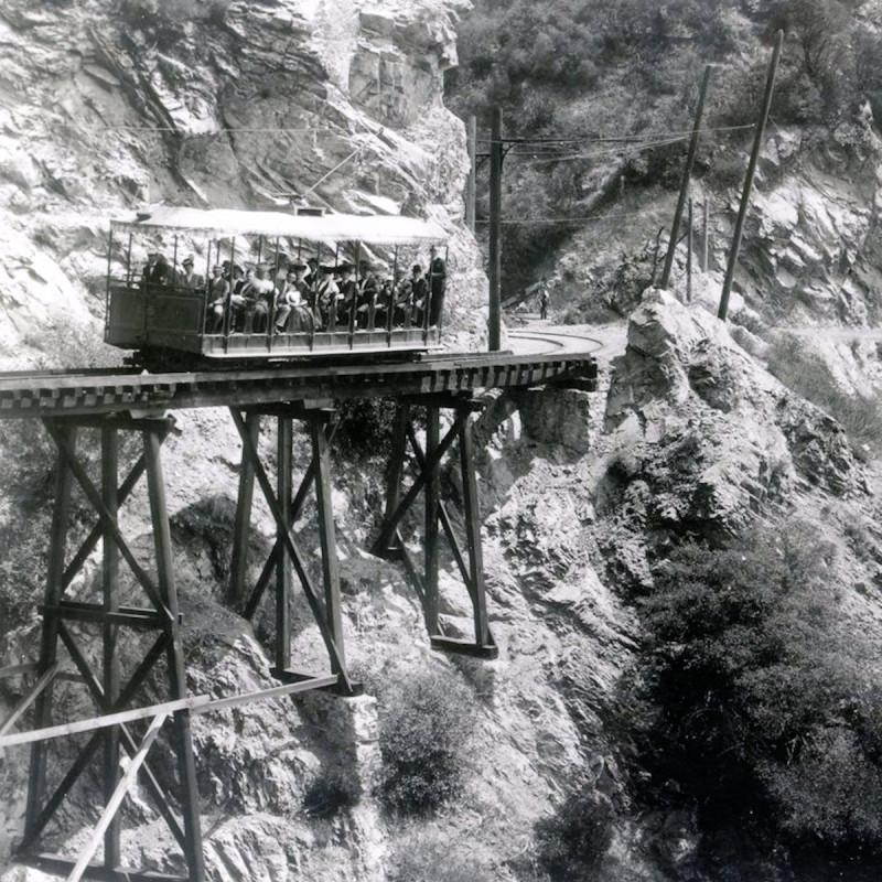 Mt. Lowe Railway Alpine Line's Rubio Canyon Pasadena