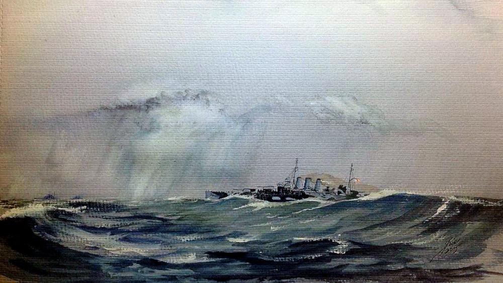 HMS Suffolk Sights Bismarck