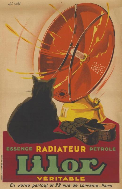 """Lilor"" - Real Gas or Kerosene Heater – Poster by Alphonse Noel, 1930."