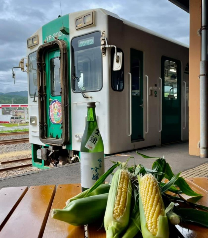 A set of morning corn  has been added to the free shipping campaign product from Yuri Kogen railway