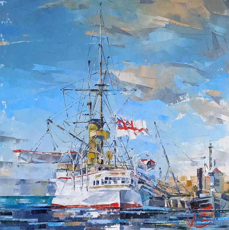 Владимир Глухоманюк - the docking at port of the Royal Navy armored cruiser HMS ORLANDO