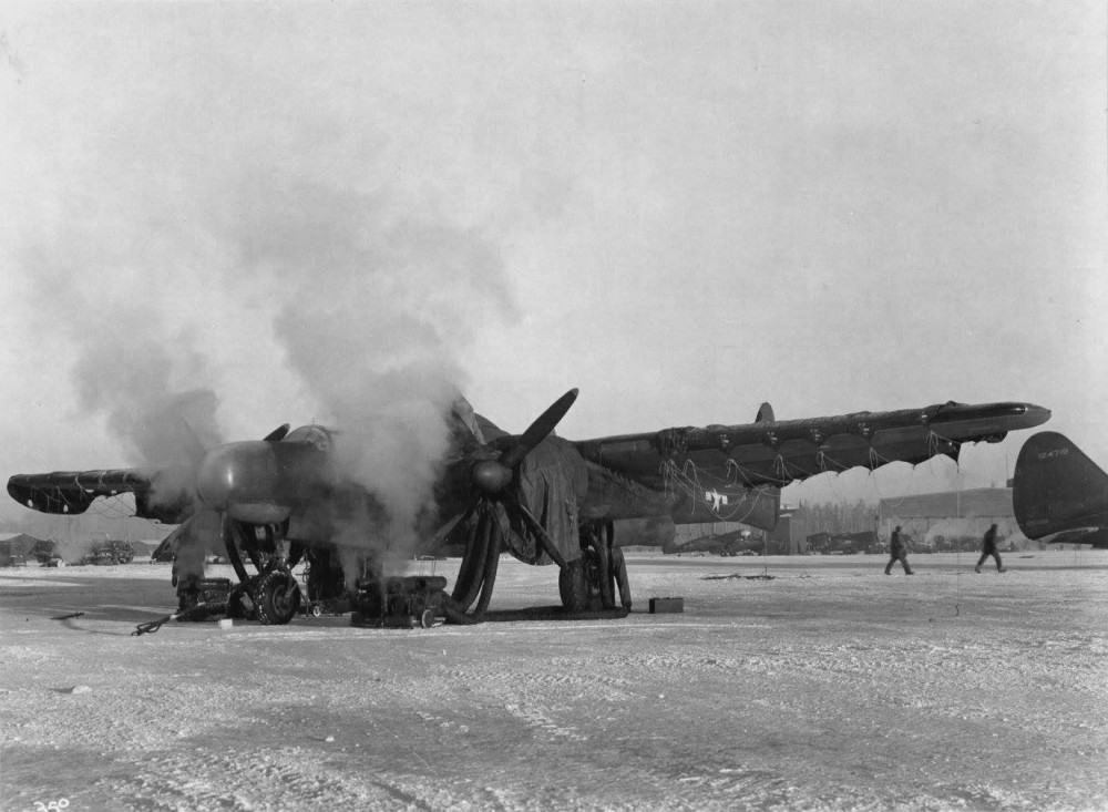 P-61, Ladd field, Alaska. 20 March 1944.