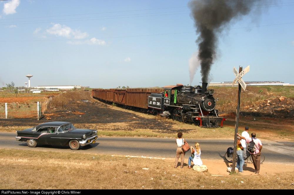 Oldsmobile & Baldwin 2-6-0 works, Cuban National No. 1530, 3km east of Cardenas, Cuba, February 10, 2003