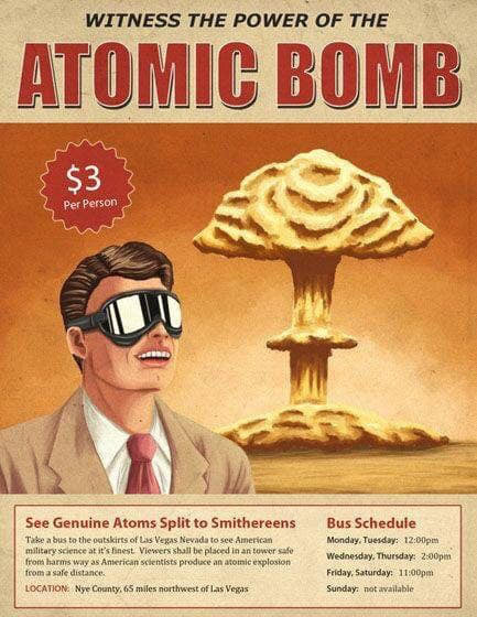 Witness the Power of the Atomic Bomb $3 Per Person!