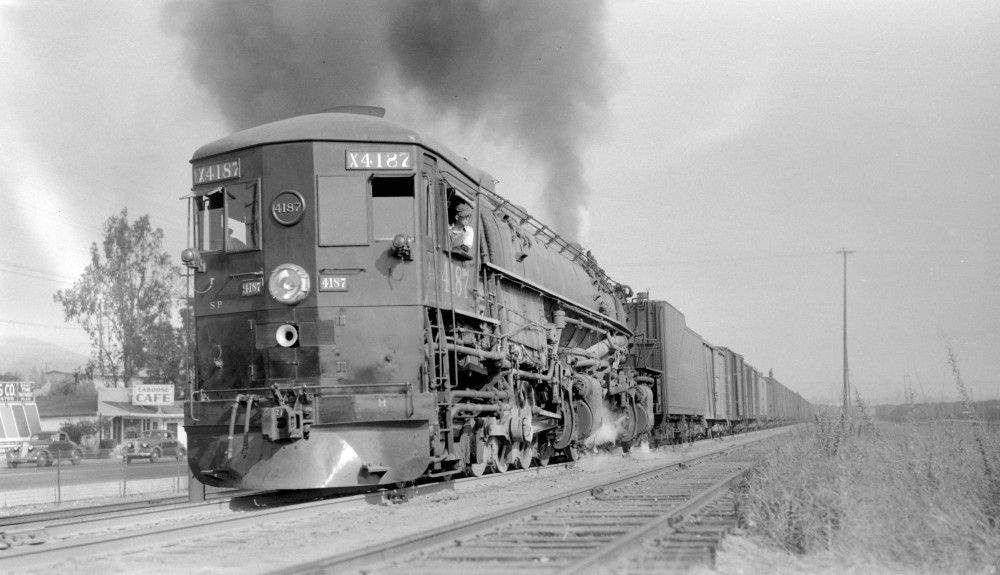 Southern Pacific train, engine number 4187, engine type 4-8-8-2,  Los Angeles, Cal., August 2, 1940