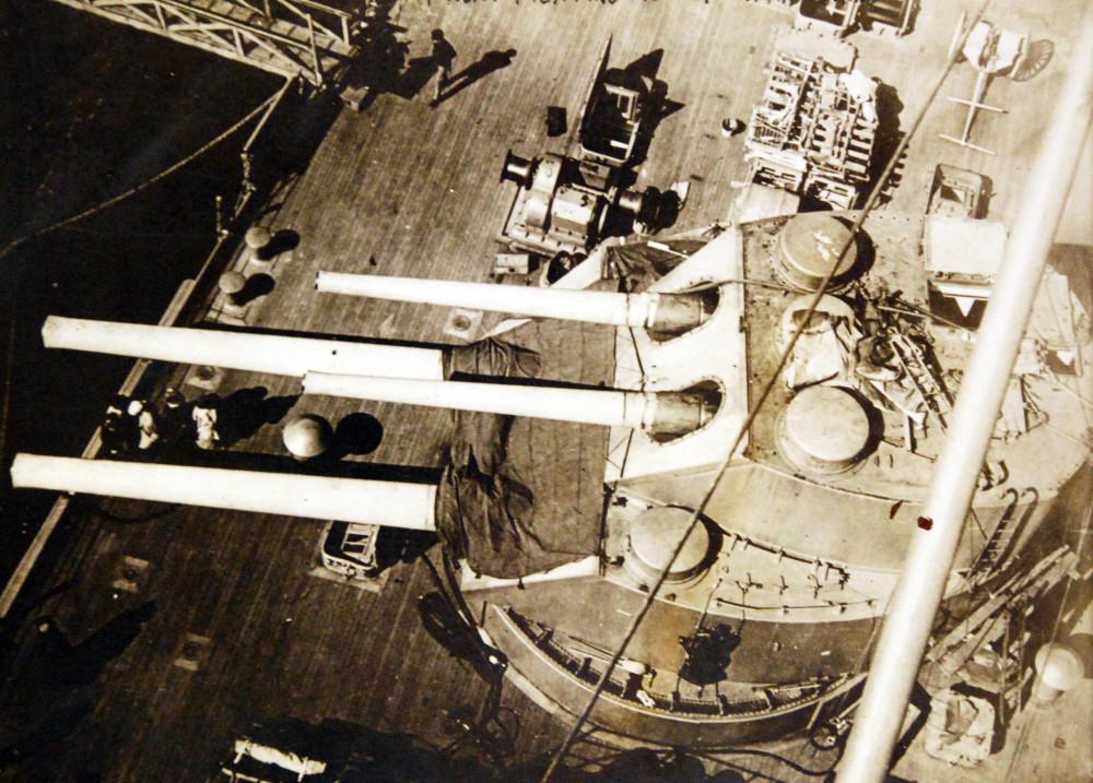 USS Rhode Island (Battleship #17),from fighting top, April 27, 1914