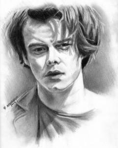 Charlie Heaton portrait by Amy VanHym