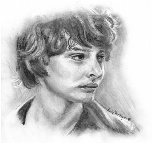 Finn Wolfhard sketch by Amy VanHym