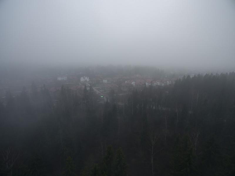 Поселок Андреевский парк в тумане