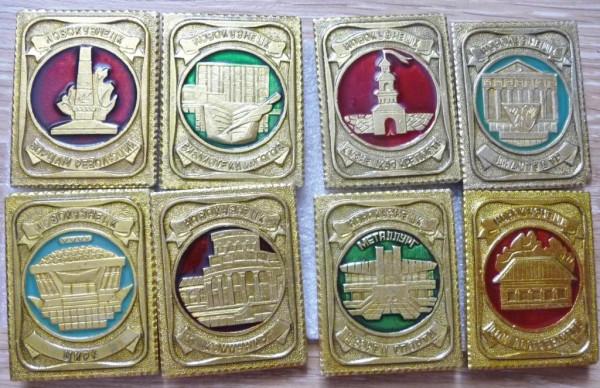 Старые советские новокузнецкие значки