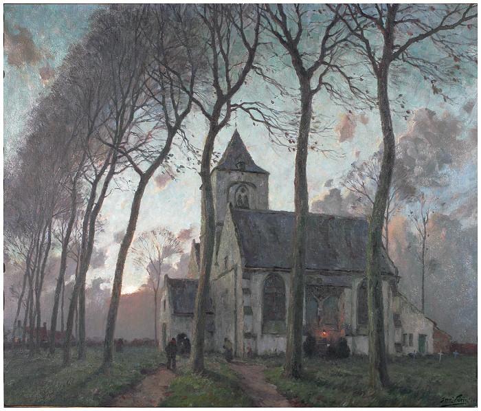 L'église de Steenkerke - 1924