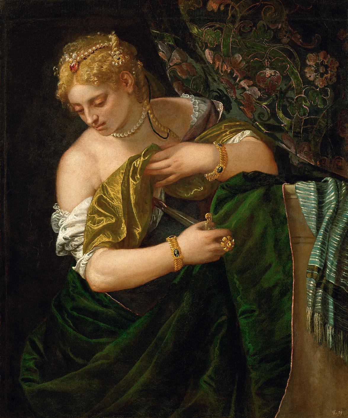 Paolo Veronese (1528 Verona - 1588 Venedig). Lukrezia. um 1580/1583. Kunsthistorisches Museum Wien / Паоло Веронезе (1528 Верона - 1588 Венеция) - Лукреция. 1580/1583.  Музей истории искусств, Вена.