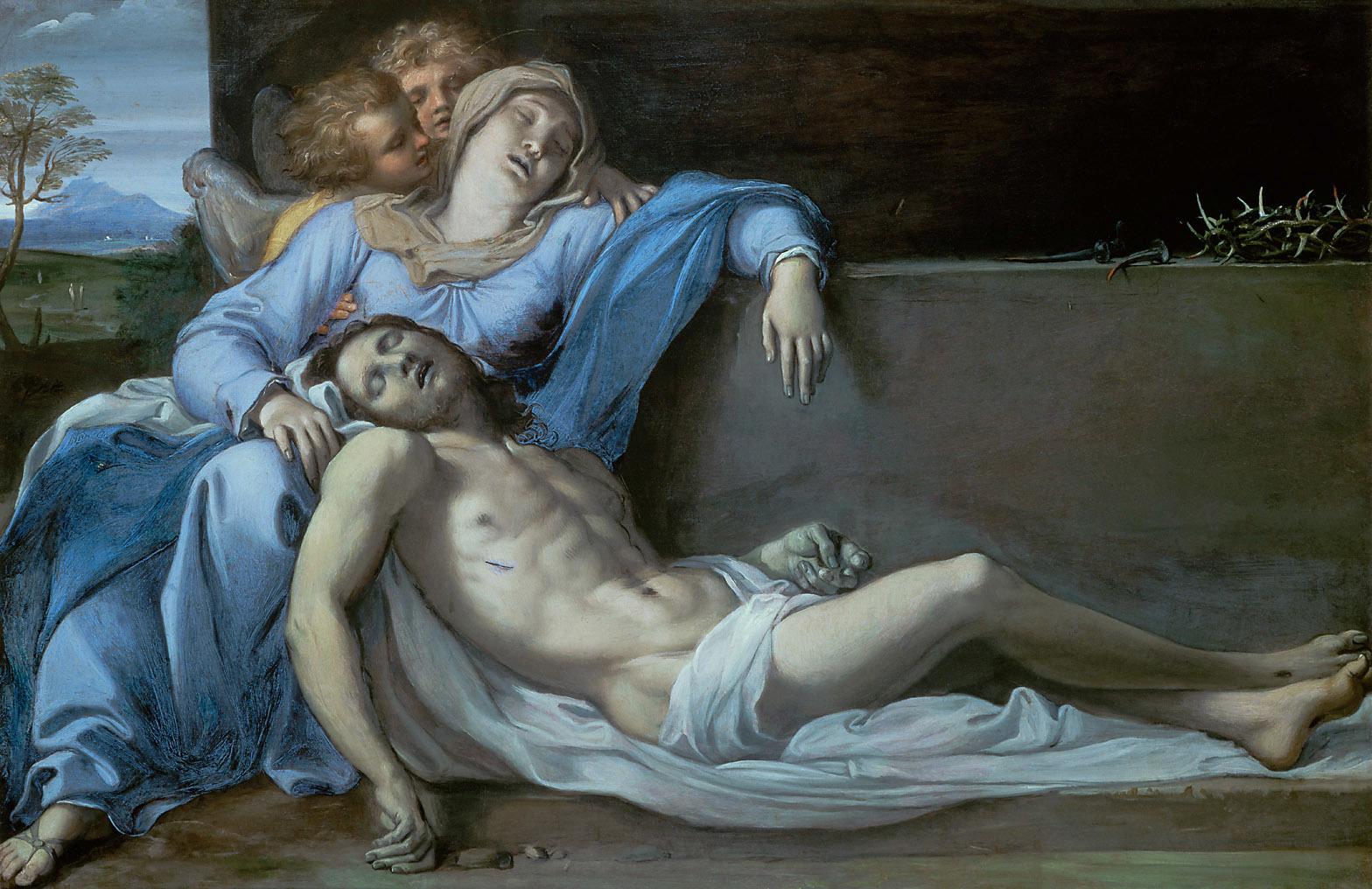 PIETÀ. um 1600.  Annibale Carracci. Kunsthistorisches Museum Wien