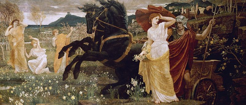 Walter Crane - The Fate of Persephone. (Queen of the Underworld; Goddess of Spring). 1877. Масло и темпера, холст