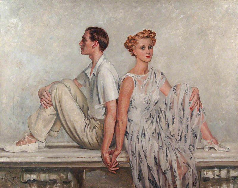 Mr and Mrs John V. Templeton.  William Bruce Ellis Ranken (1881-1941)