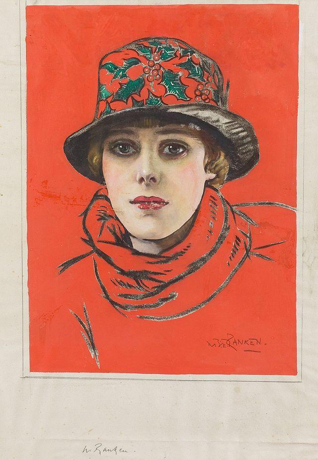 Girl in a Red Hat. William Bruce Ellis Ranken (1881-1941)