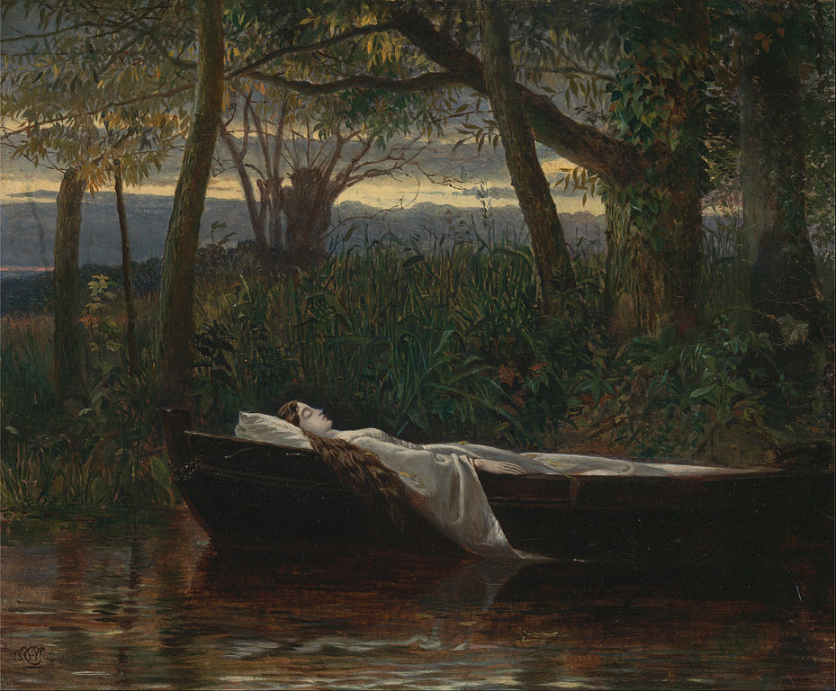 Walter Crane - The Lady of Shalott . 1862. Масло, холст