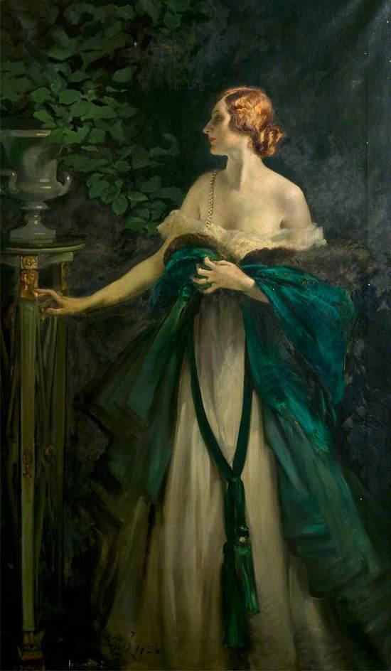 Portrait of a Lady in Green. William Bruce Ellis Ranken
